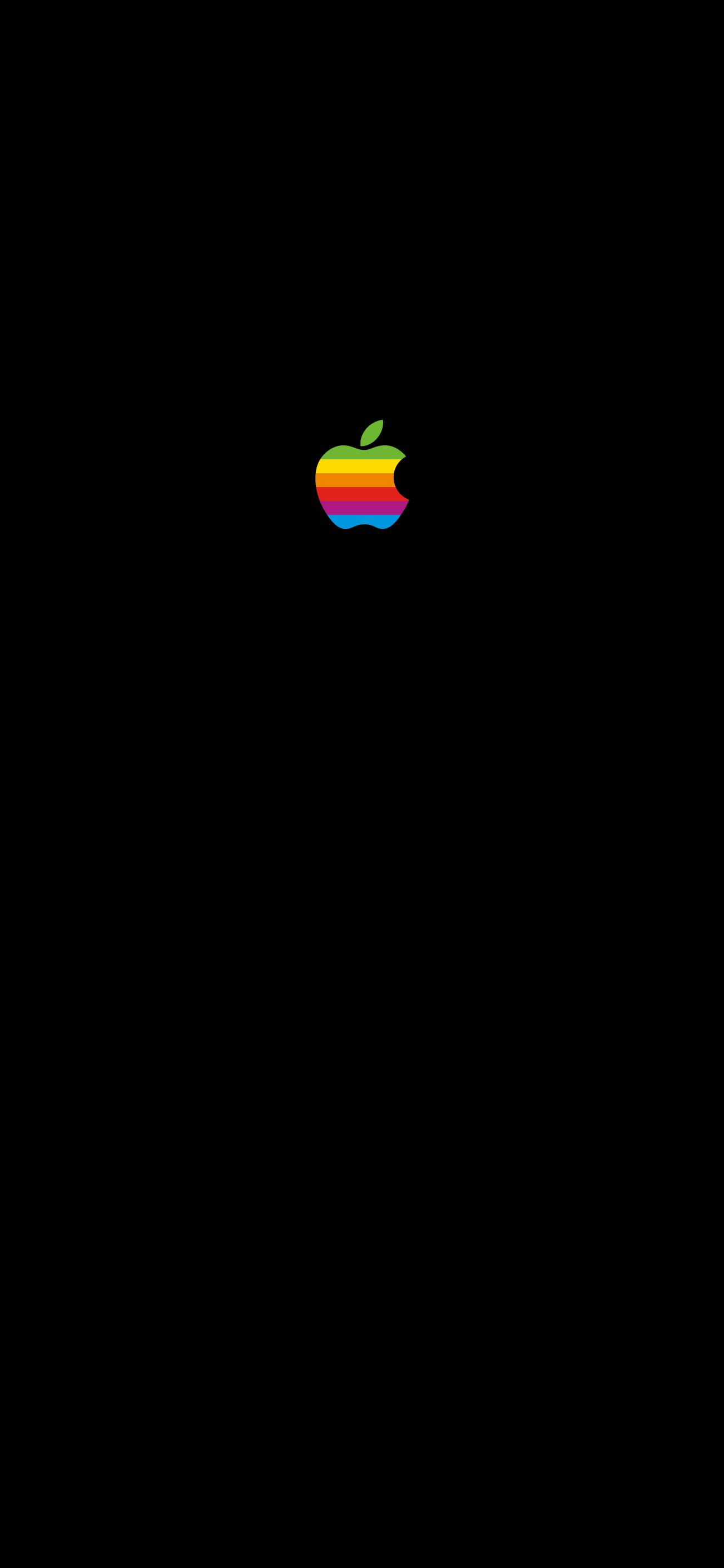 Appleレインボー壁紙 iPhone X (1:2.165)