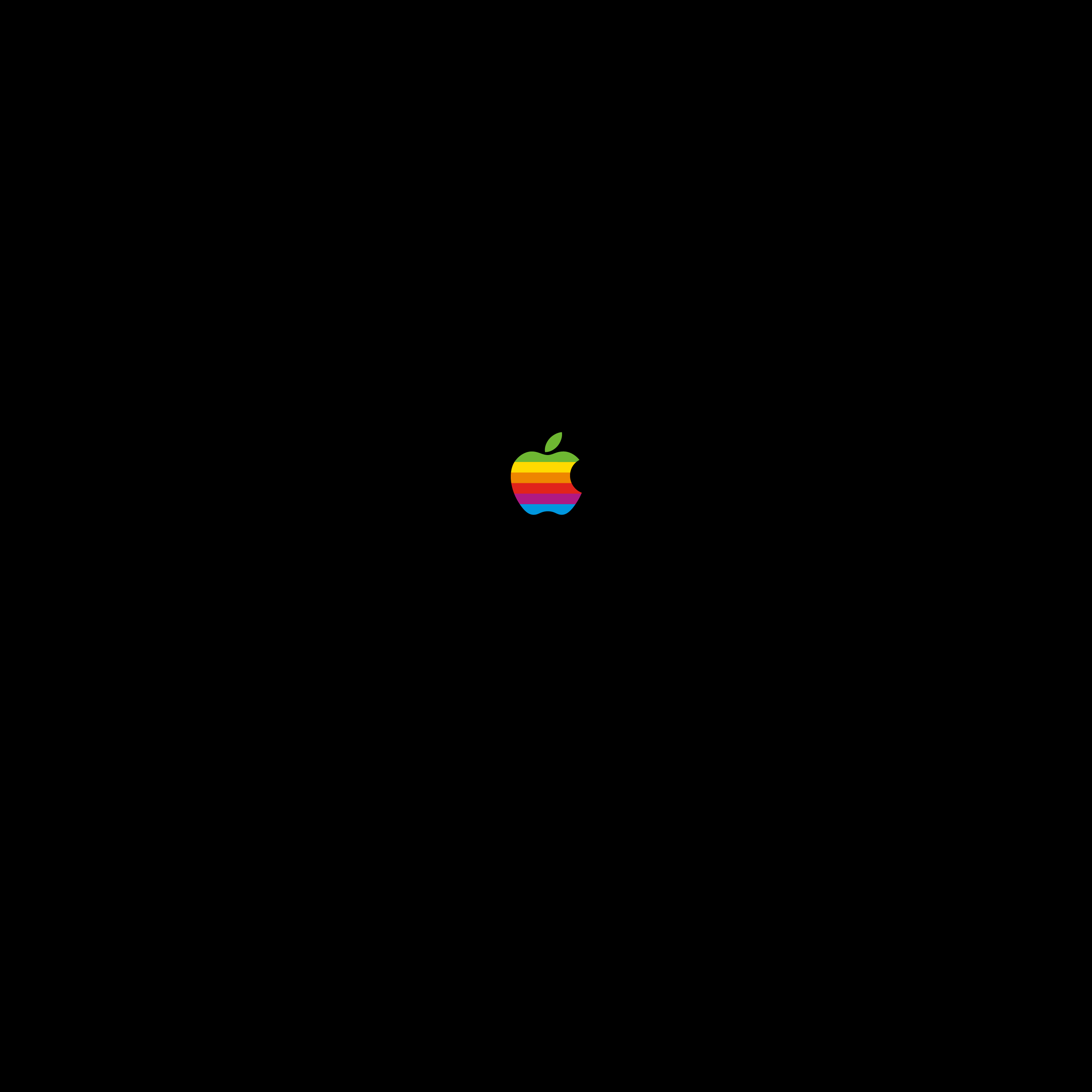 Appleレインボー壁紙 iPad, iPhone Plus(縦横) (1:1)