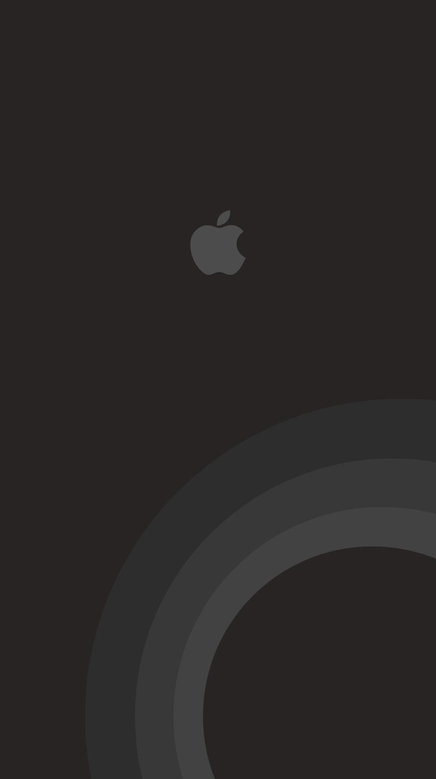 iPhone7, 6, 5用壁紙 Appleロゴ モノクロ 1