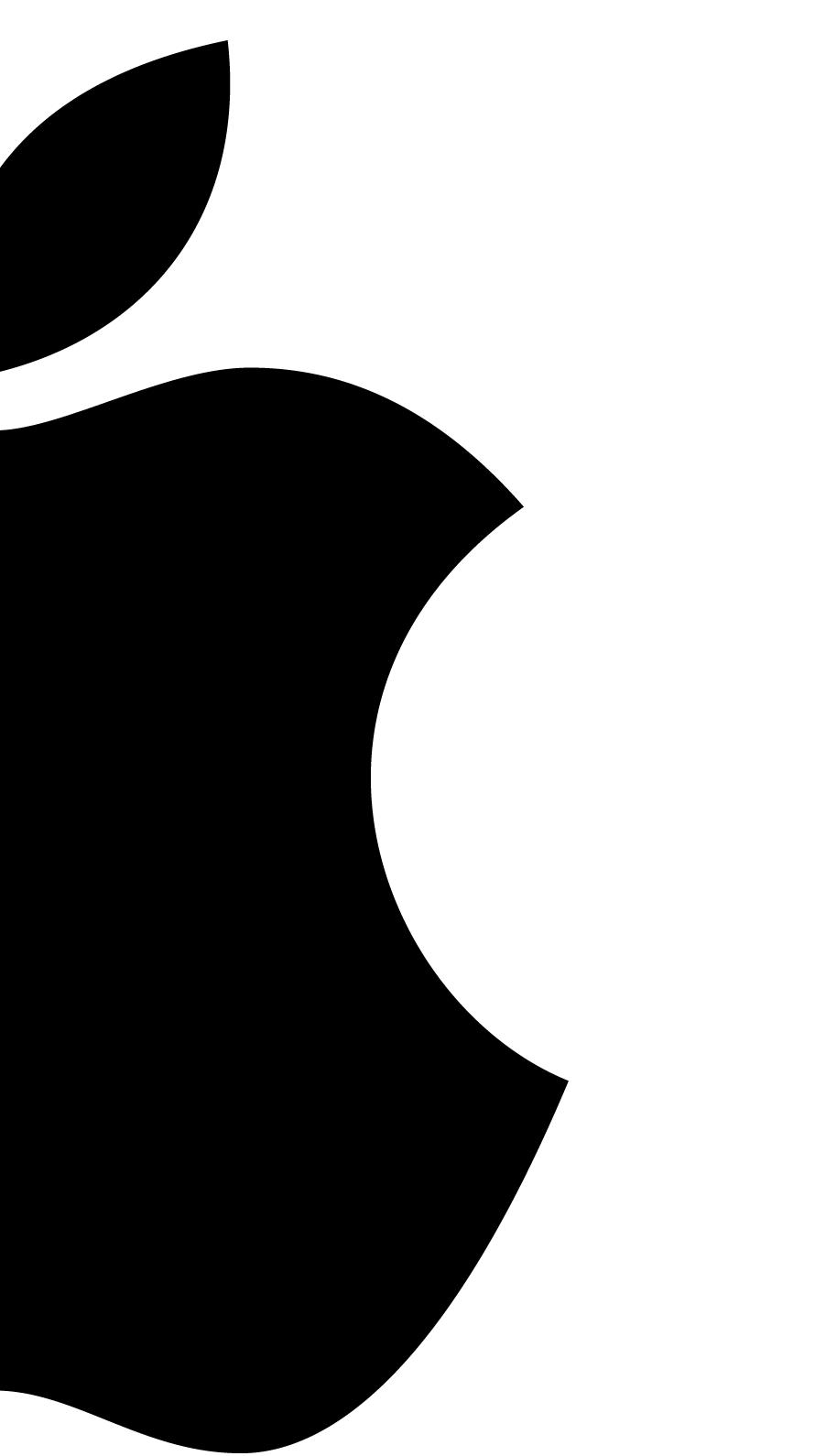 iPhone7, 6, 5用壁紙 Appleロゴ モノクロ 4