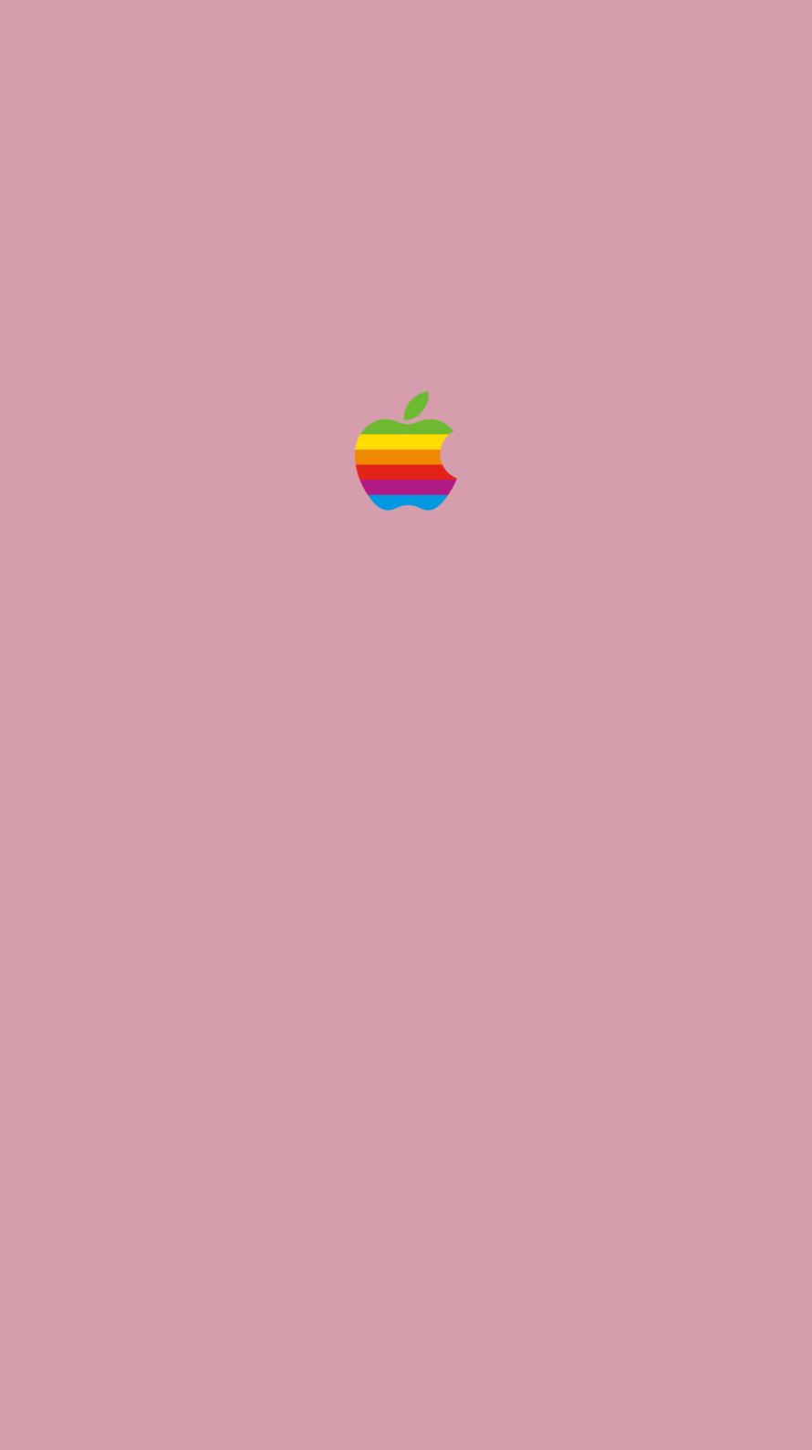 iPhone7, 6, 5用壁紙 Appleレインボーロゴ Rose