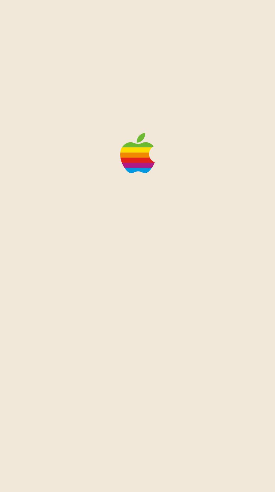 iPhone7, 6, 5用壁紙 Appleレインボーロゴ Yellow