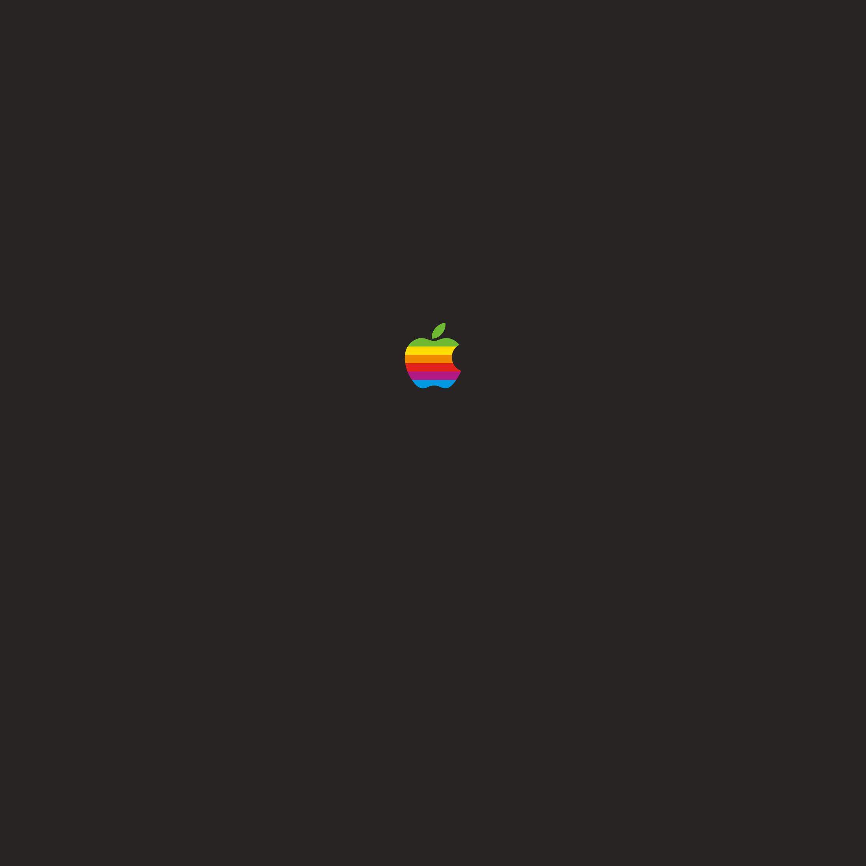 Appleレインボーロゴ壁紙2,224x2,224px